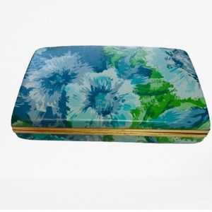 Vintage Jewelry Box Blue & Green Floral